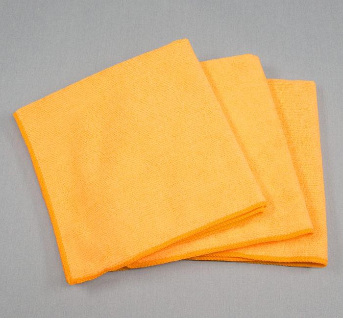 16x16 Microfiber Cloth 49g Orange Towels