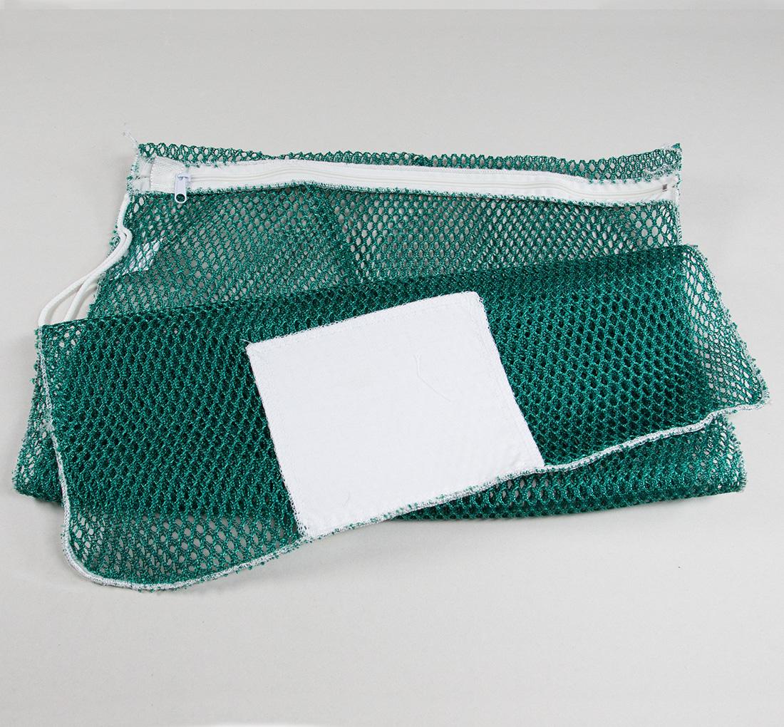Mesh Zipper Laundry Bags Green